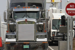Truck at checkpoint