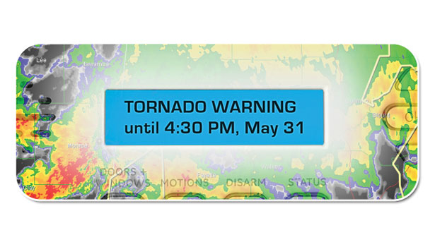 Tornado Warning Screen