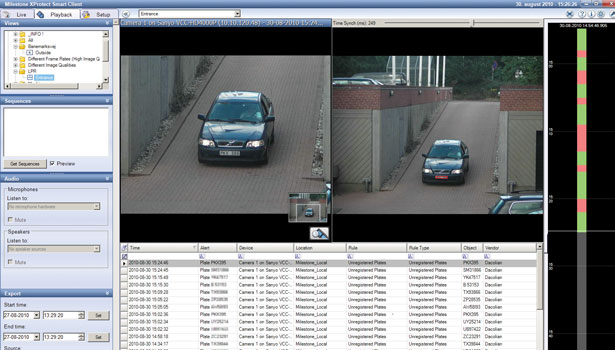 License plate monitoring