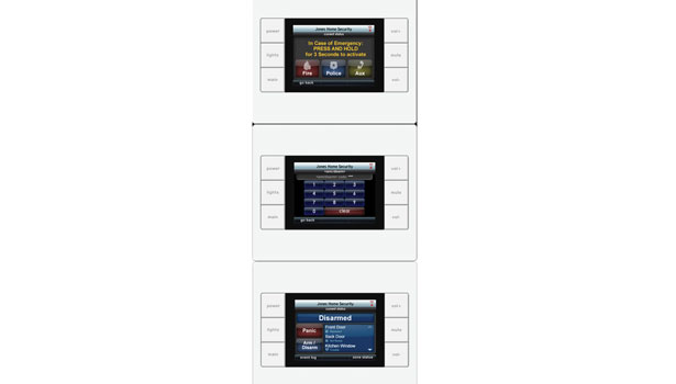 Touchscreen alarm system