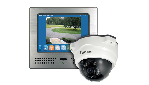 Security video camera and display