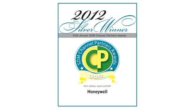 Silver Channel partner award to Honeywell