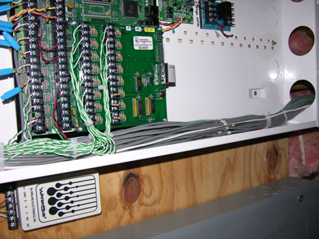 A typical panel wired neatly by the experienced installation team