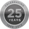 Protection 1 25 years logo