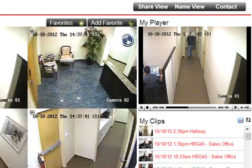 View of three security videos