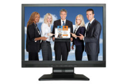 Five people in a monitor