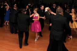People dancing at SDM 100 Gala