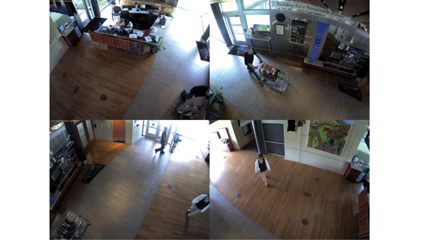 Security camera view