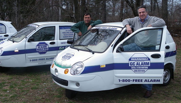 World Wide Security's three-wheeled, all-electric vehicles