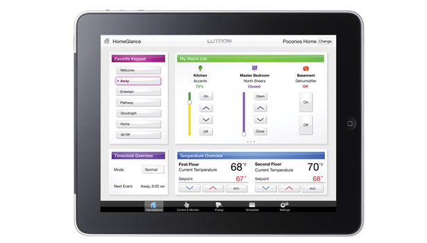 Home energy management interface