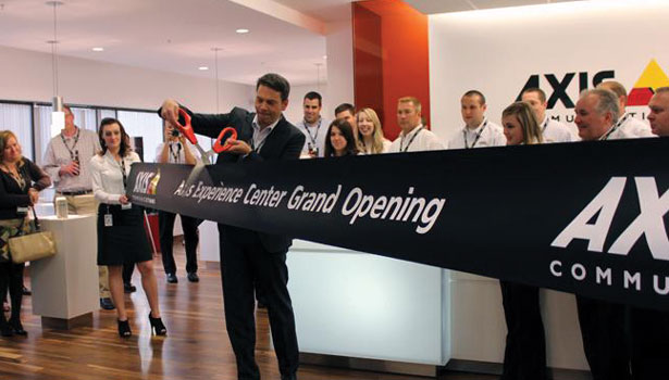 Ribbon Cutting at Axis