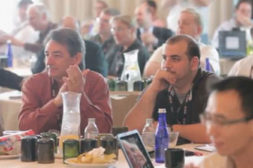 Attendees at an Axis Communications conference