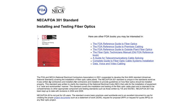 Website stating Free Installation Standard for FOA Members