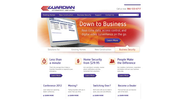 Guardian Protection Services website