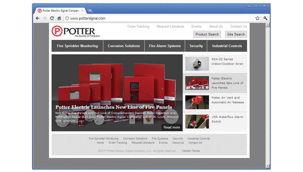 Potter website