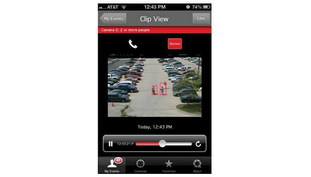 VideoIQ Mobile is an extension of VideoIQ's VMS