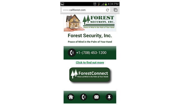 Forest Security Systems' new website