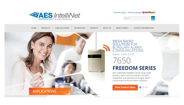 AES-IntelliNet launched a completely redesigned website