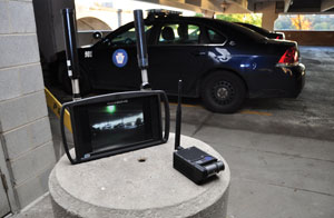portable, turnkey surveillance solution featuring the DTx drop-down tactical camera transmitter and MobilCMDR receiver