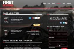 First Response Donation Screen