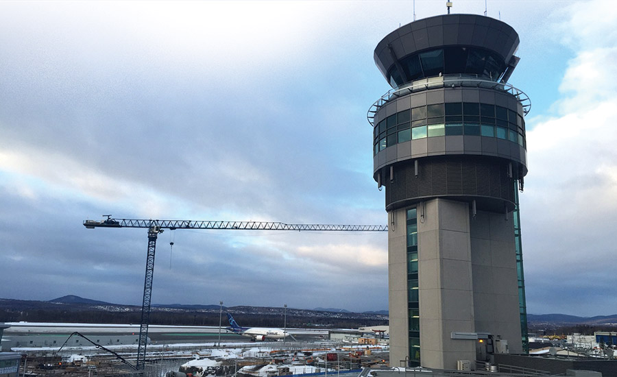 Quebec City Airport, Parking Deck and Air Traffic Control Tower