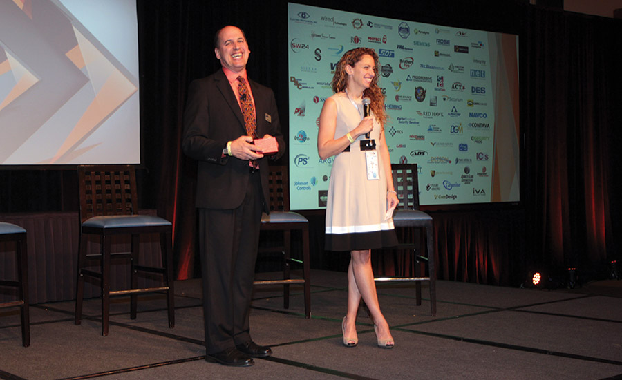 Hanwha Techwin's Tom Cook and Janet Fenner