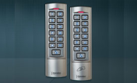 CM-110SK stand-alone slim-line metal keypad and the  CV-110SPK slim-line prox reader and keypad