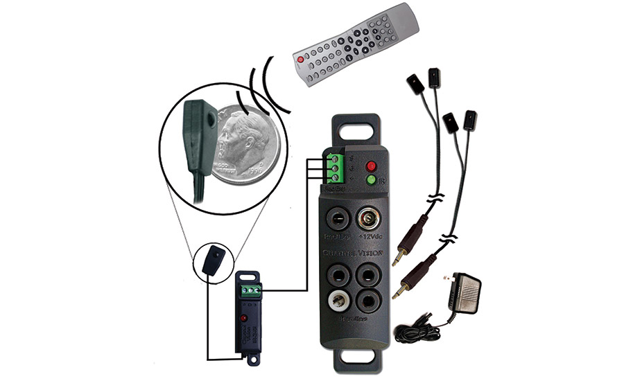 Channel Vision's IR-5011 IR repeater kit