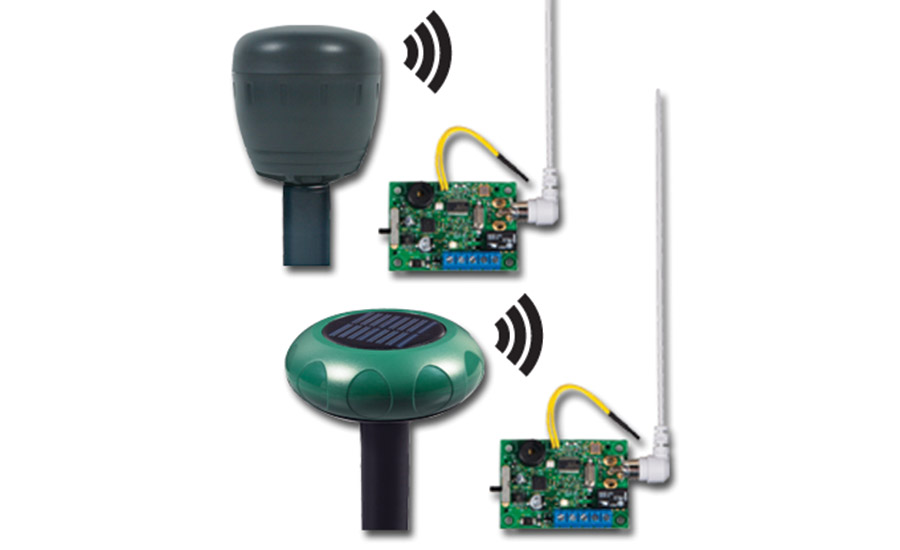Wireless Battery or Solar Driveway Monitor with Single Channel Slave Receiver