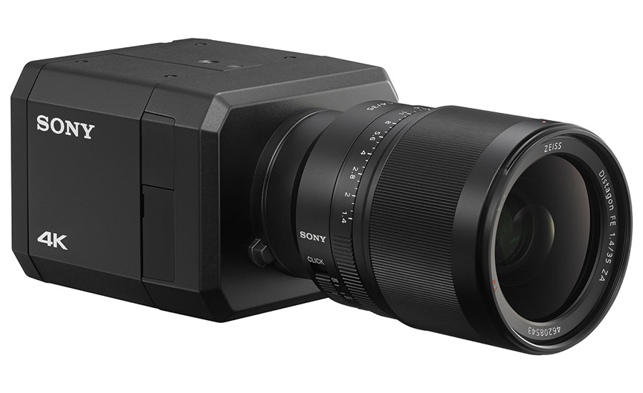 Sony's newest 4K network camera, model SNC-VB770