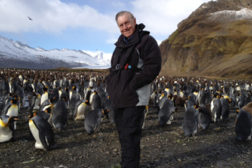 Bob Bonifas with penguins
