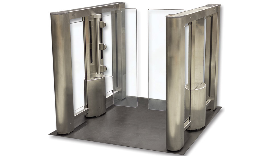 Glass Turnstile Features Smaller Footprint