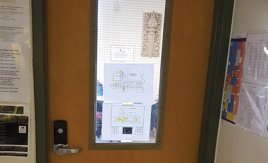 Many schools today are looking for lockdown solutions for hallways and even classroom doors