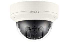 Hanwha Techwin America features a high-resolution 180-deg. panoramic multi-sensor camera