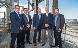 Dwight Smith, Ryan Rieger, Ryan Loughin, Frank Brewer and Steve Greis (pictured left to right) founded NextGen Security in 2012