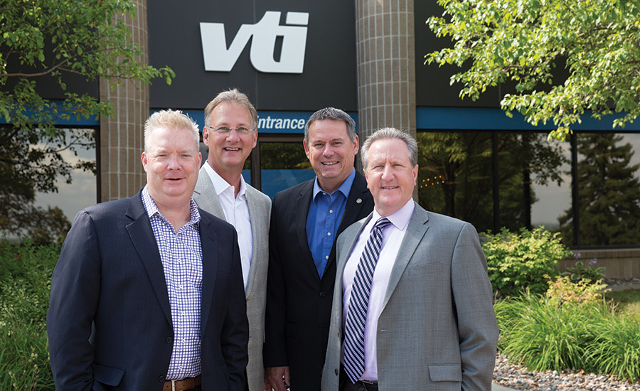 VTI's Stephen Fisher, Tom Asp, President & CEO, Rick Allan, CTO and Bryan Viau (Left to right)