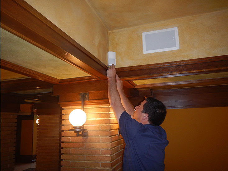 Advanced Alarm installation - Darwin Martin House Interior - SDM Magazine