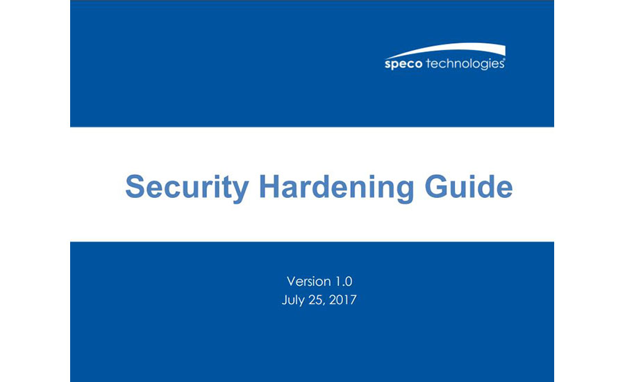 Speco Security Hardening Guide - SDM Magazine