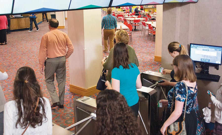 Boon Edam turnstiles are installed in both the Four Winds and Varsity dining facilities