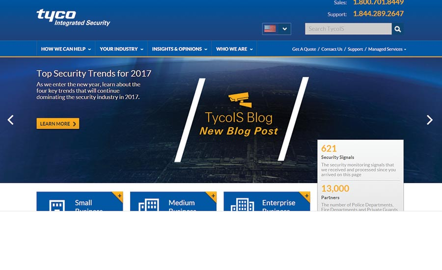 Tyco Publishes Security Trend Blog for 2017