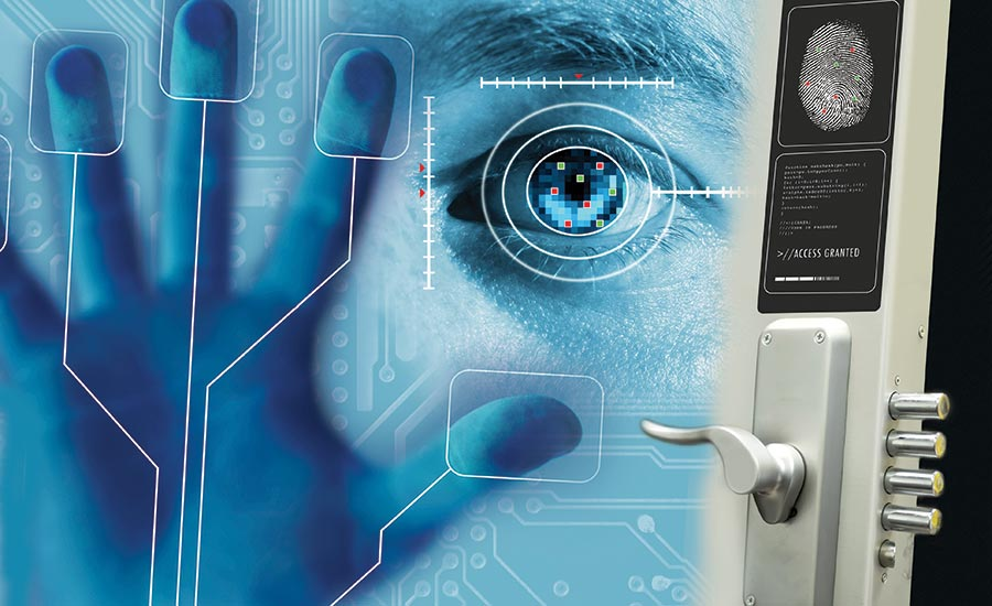 Biometrics is one access control technology that spans all five verticals in terms of rising interest levels