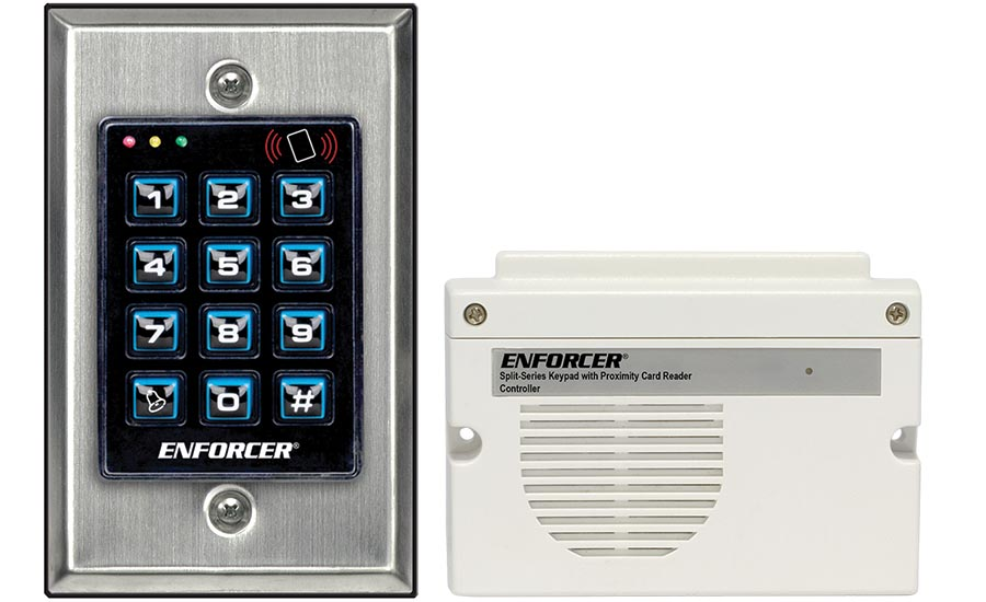Split Series Keypad with Proximity Reader