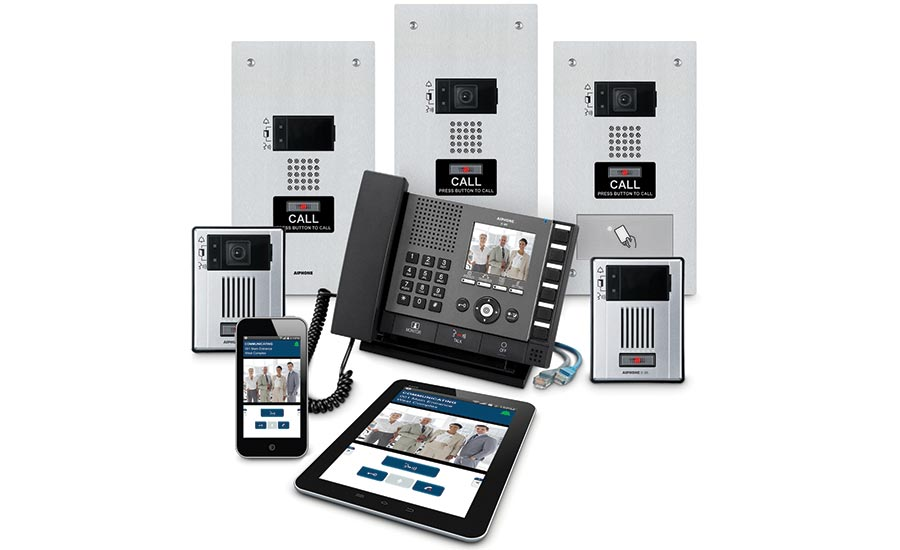 The new video IP-based intercoms can be controlled remotely with the Aiphone mobile app for iOS and Android smart-phones and tablets