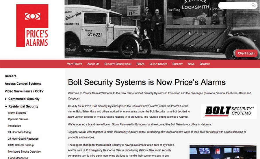Bolt Security Updates Website