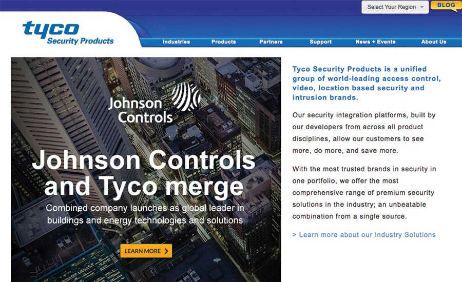 Tyco Adds New Partner Portal
