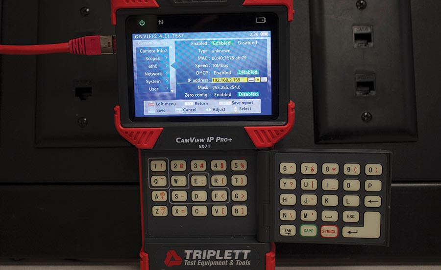 This IP/Analog surveillance video tester does it all
