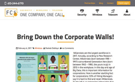 FCi Publishes Blog on Millennial Workforce