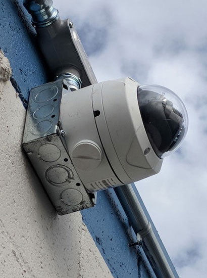 Photo of an outdoor security camera - 5 Minute Tech Quiz - SDM Magazine