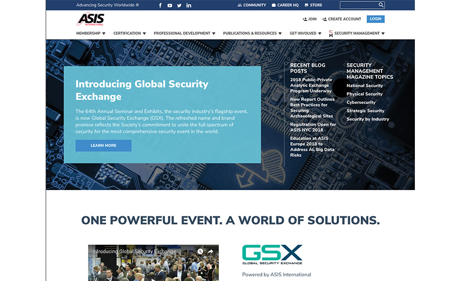 ASIS International New Website