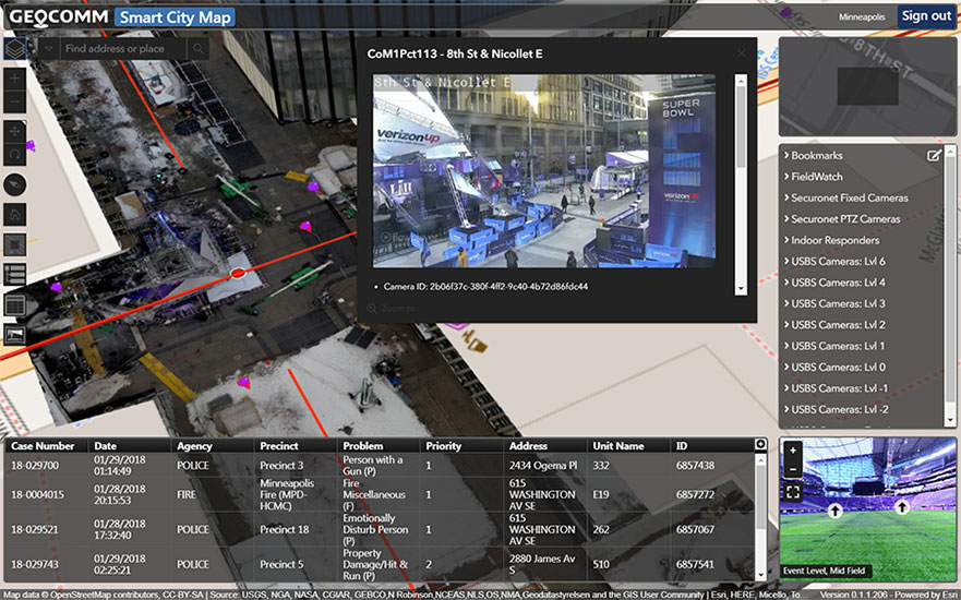 Innovative GeoComm software provided security through threedimensional indoor maps and sensor feeds. - SDM Magazine